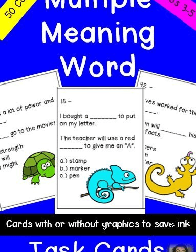 Descriptive Writing Activity and Multiple Meaning Words