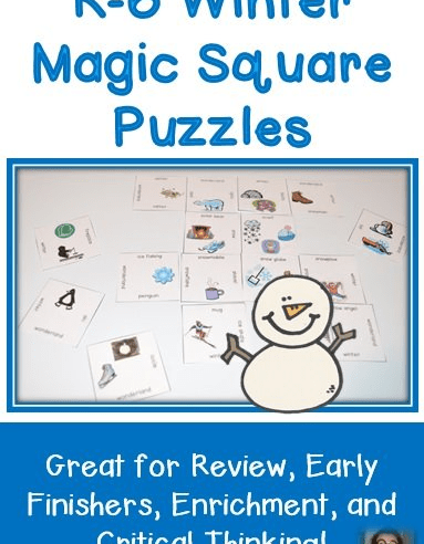 K-6 Winter Magic Square FREEBIE
