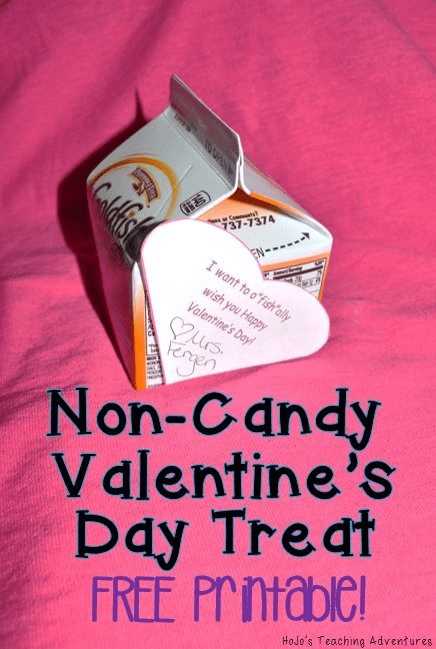 If you're looking for a non-candy treat alternative for Valentine's Day, this is it! Click through to download your copy for FREE! {Great for your preschool, Kindergarten, 1st, 2nd, 3rd, 4th, 5th, or 6th grade classroom students. Room moms - take note!!}
