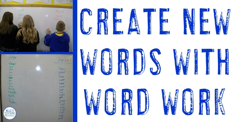 Creating New Words via a Game {Also Great for Centers!}