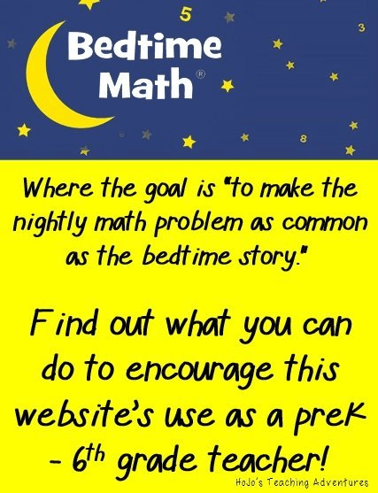Bedtime Math - an easy way to make a daily math problem as typical as the bedtime story!