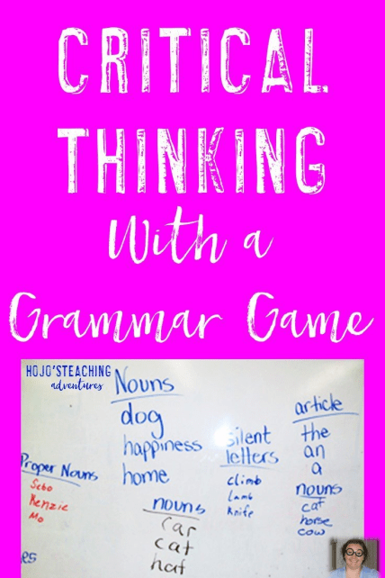 Are you looking for an engaging way to review grammar that also involves higher level thinking skills? Then this is the activity for you! Your students will practice all of their grammar and language skills and challenge one another at the same time. It's great for 2nd, 3rd, 4th, 5th, 6th, 7th, or 8th grade students!