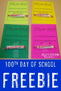 100th day of school freebie - click to grab!
