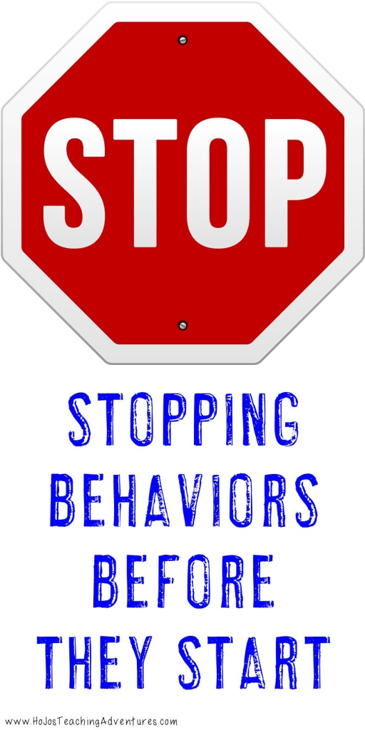 stop sign image with text stopping behaviors before they start
