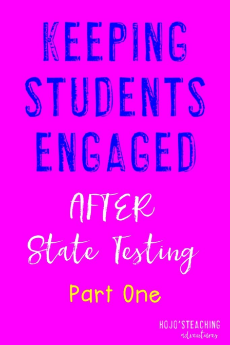 Keeping students engaged after state testing can be tough! Here is one idea to keep them on task and learning even after all the test prep is done!