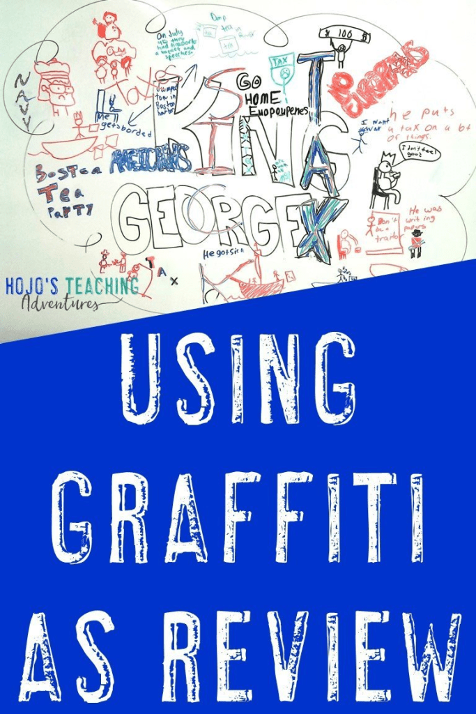 Using a Graffiti Wall as Review in the classroom is a fun, hands-on way to review materials. It can be used at ANY grade level in elementary, middle, and high school as a collaborative activity for any subject or concept from reading, math, history, social studies, & more. Let students write or draw to see what they know & what needs to be retaught or explained again. It's great for whole group, small groups, or partners. (3rd, 4th, 5th, 6th, 7th, 8th, 9th, 10th, 11th, 12th graders) #HoJoTeaches