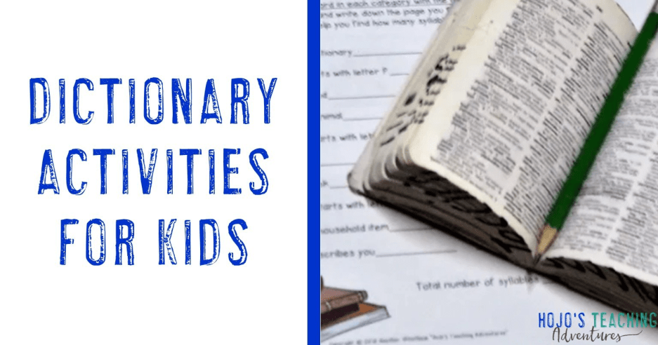 Dictionary Resources for the Elementary Classroom