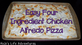 Easy Meals for Teachers - Chicken Alfredo Pizz