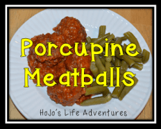 Easy Teacher Meals - Porcupine Meatballs - Rice, Hamburger, Spices, Water, & Tomato Soup