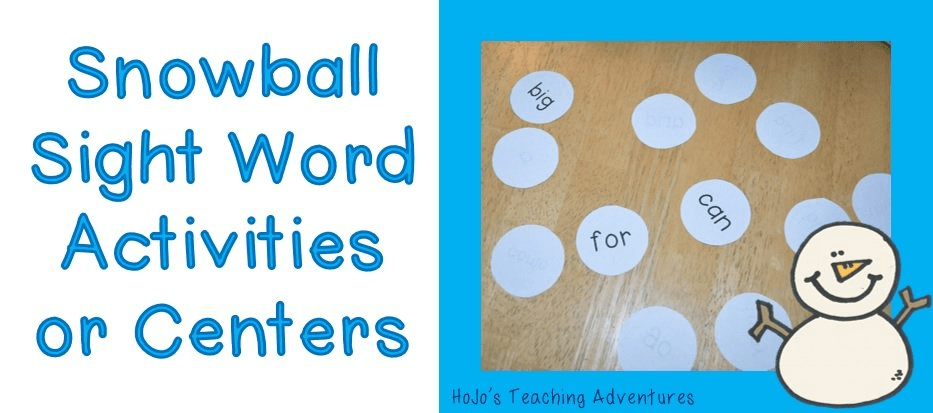 Winter Sight Word Centers {with FREE download!}