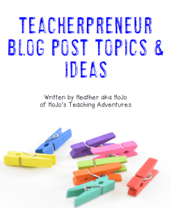 Are you a teacherpreneur or teacher blogger on the lookout for new blogging ideas and topics? Here you go! Click through to grab your FREE download of this blog post ideas and topics ebook. You'll find over 10 different ideas to help you get a great list of blog post ideas started! Signing up is FREE, and your download will come through as soon as you confirm your e-mail. Get yours now!