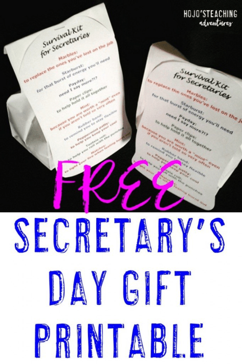 Are you looking for a Secretary's Day gift? This FREE printable download might be just want you need! Check it out!!