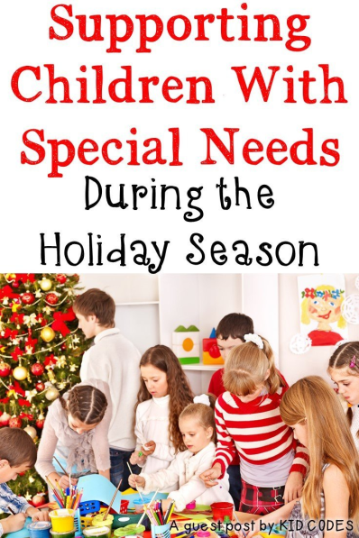 Helping children with special needs during the holiday season should be something every teacher anticipates and prepares for each December as the hustle and bustle can become overwhelming to many children. This blog post has EIGHT great tips to help you out!