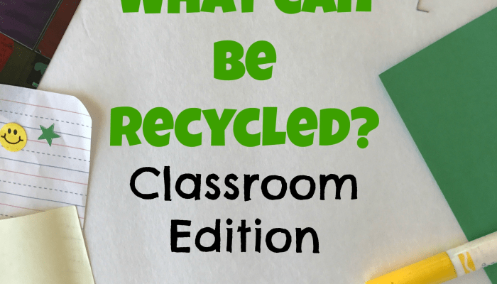 What Can Be Recycled: Classroom Edition