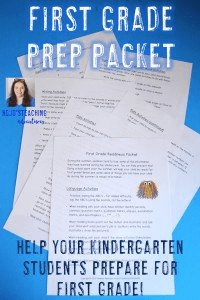"Kindergarten Summer Review - This packet is full of ideas for parents to help their ""almost"" first grader be ready for school in the fall. With purchase, you'll get a pdf and EDITABLE Word template to customize. Send it home with your preschool or Kindergarten students at the end of the school year so they come back in the fall remembering everything they've learned! Math, language, and writing activities included - plus sight, color, and number words! Click through for more details! $"