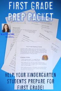 """Kindergarten Summer Review - This packet is full of ideas for parents to help their """"almost"""" first grader be ready for school in the fall. With purchase, you'll get a pdf and EDITABLE Word template to customize. Send it home with your preschool or Kindergarten students at the end of the school year so they come back in the fall remembering everything they've learned! Math, language, and writing activities included - plus sight, color, and number words! Click through for more details! $"""
