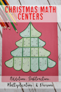 Your 1st, 2nd, 3rd, 4th, and 5th grade classroom or home school students will love being able to do math puzzles during the school year. Check out this tree puzzle for your Christmas and December holiday needs. Your students can practice addition, subtraction, multiplication, and division math skills. Plus get a FREE download at the blog post to test out the puzzle game format. Great for math centers! {first, second, third, fourth, fifth graders, freebie, homeschool}