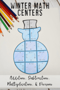 Your 1st, 2nd, 3rd, 4th, and 5th grade classroom or home school students will love being able to do math puzzles during the school year. Check out this snowman puzzle for your winter season needs during December and January. Your students can practice addition, subtraction, multiplication, and division math skills. Plus get a FREE download at the blog post to test out the puzzle game format. Great for math centers! {first, second, third, fourth, fifth graders, freebie, homeschool, snowmen}
