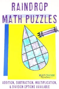 Click here to go to my Raindrop Puzzles on TpT!