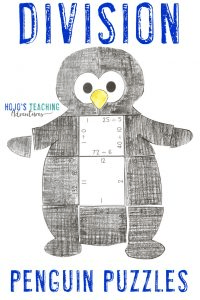 Click to purchase the DIVISION penguin puzzle on TpT!