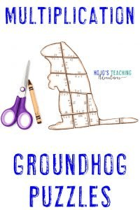 Groundhogs Day Multiplication Puzzles - click to buy!