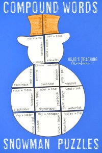 Compound Words Snowman Puzzles