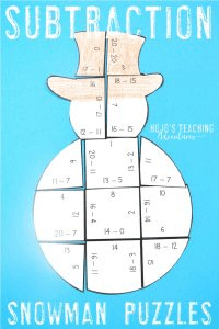 Subtraction Snowman Puzzles