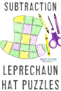 Click here to buy St. Patrick's Day Subtraction Puzzle Games!