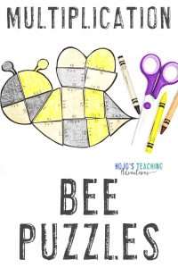 Click to buy bee multiplication puzzles!