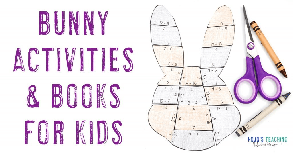 Bunny Activities & Books for Kids - with picture of bunny math puzzle