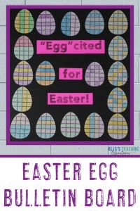"Easter Egg Bulletin Board - ""Egg""cited for Easter!"