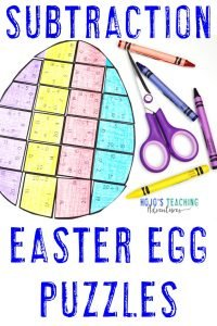 Click here to buy your own set of Easter egg subtraction puzzles!