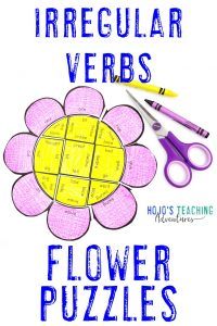 Click here to buy IRREGULAR VERB flower puzzles!