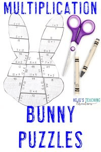 Click to buy Multiplication Bunny Puzzles