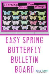 "Use these puzzles to make your own ""Easy Spring Butterfly Bulletin Board"""