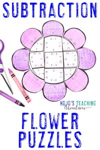 Click here to buy SUBTRACTION flower puzzles!