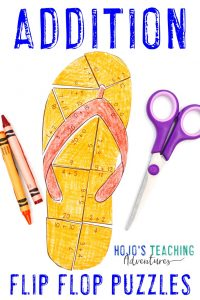 Click to buy your own ADDITION flip flop math activities!