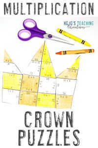 Click here to grab your own MULTIPLICATION crown puzzles!