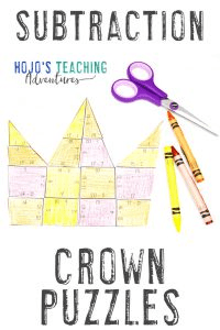 Click here for SUBTRACTION crown puzzles!