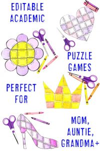 Click to see all four EDITABLE Mother's Day Puzzles!