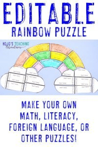 Click here to buy an EDITABLE rainbow puzzle!