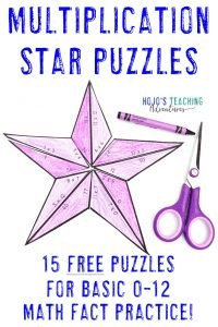 Click to get your own FREE multiplication star math activities!