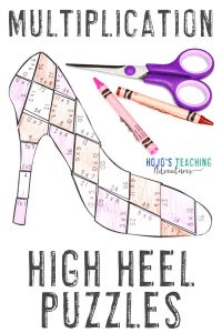 Click to buy your own high heel MULTIPLICATION games for Mother's Day!