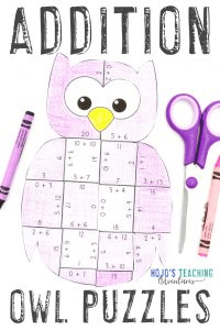 Click through now to grab your own ADDITION owl math games!