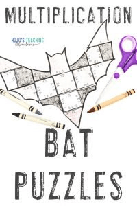 Click to buy multiplication bat puzzles now!