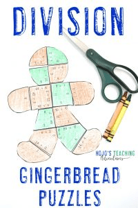 Division Gingerbread Man Puzzles