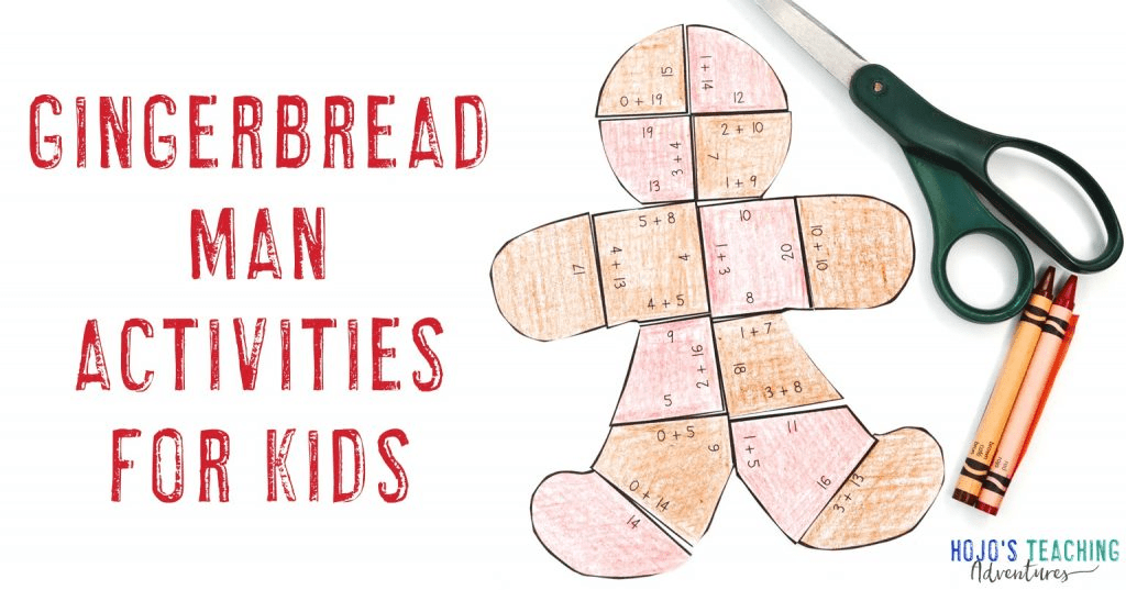 gingerbread activities for kids with a gingerbread man puzzle