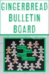 "Gingerbread Man Bulletin Board with puzzles ""We're Some Smart Cookies!"""