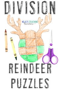 Click to buy your own DIVISION reindeer activities for kids!