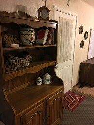 Living room hutch cabinet